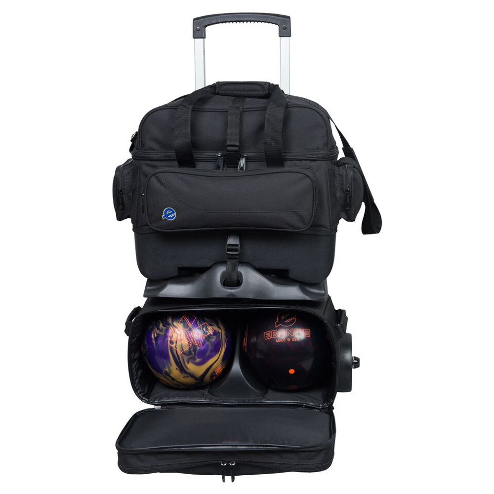 Ebonite Transport 4 Ball Roller Bowling Bag Black