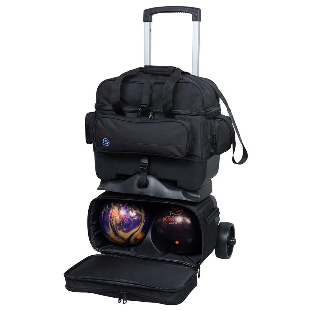 Ebonite Transport 4 Ball Roller Bowling Bag Black
