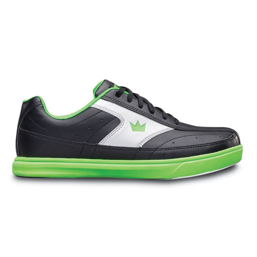 Brunswick Renegade Youth Bowling Shoes Black Neon Green