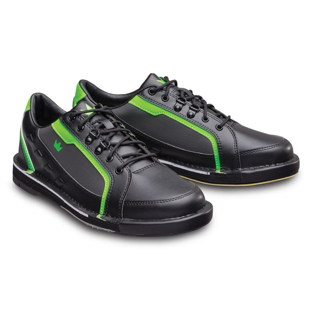 Brunswick Punisher Mens Bowling Shoes Black Neon Green Left Hand