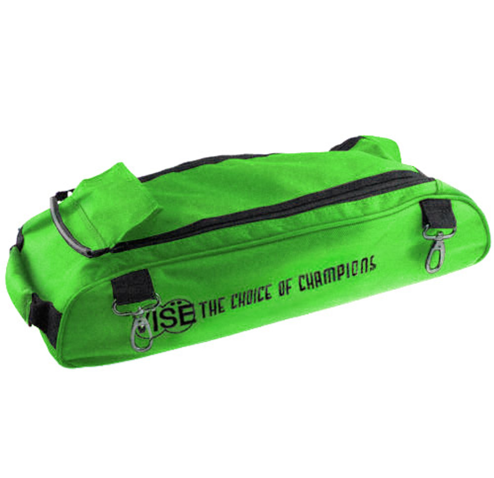 Vise 3 Ball Clear Top Roller Shoe Bag Green
