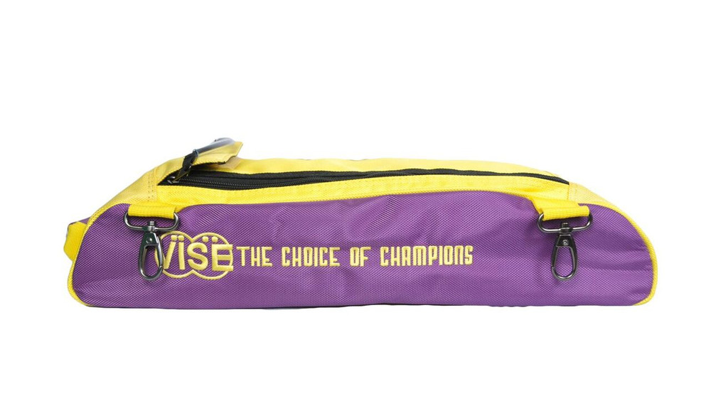 Vise 3 Ball Clear Top Roller Shoe Bag Purple Yellow