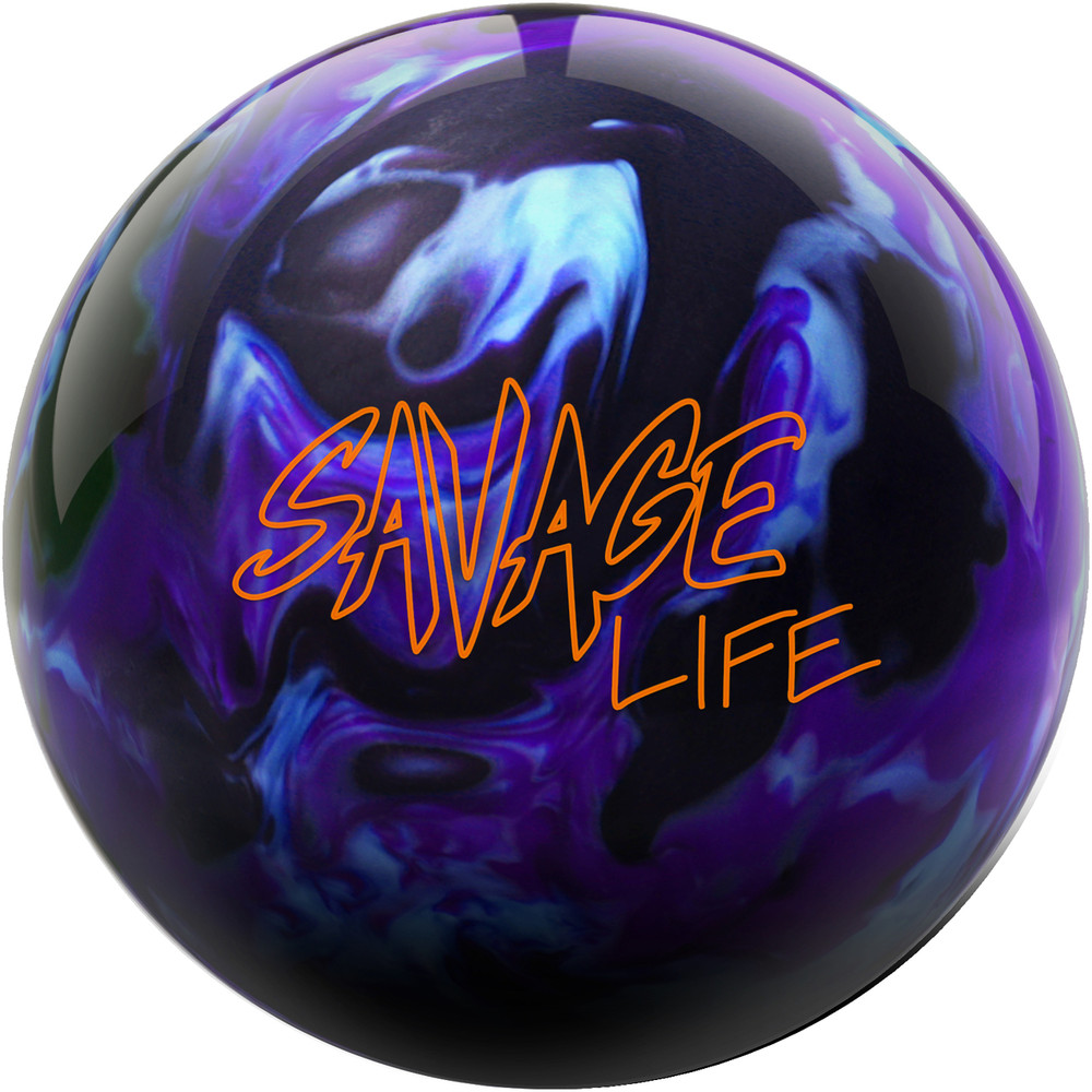 Savage Life Bowling Ball Front View