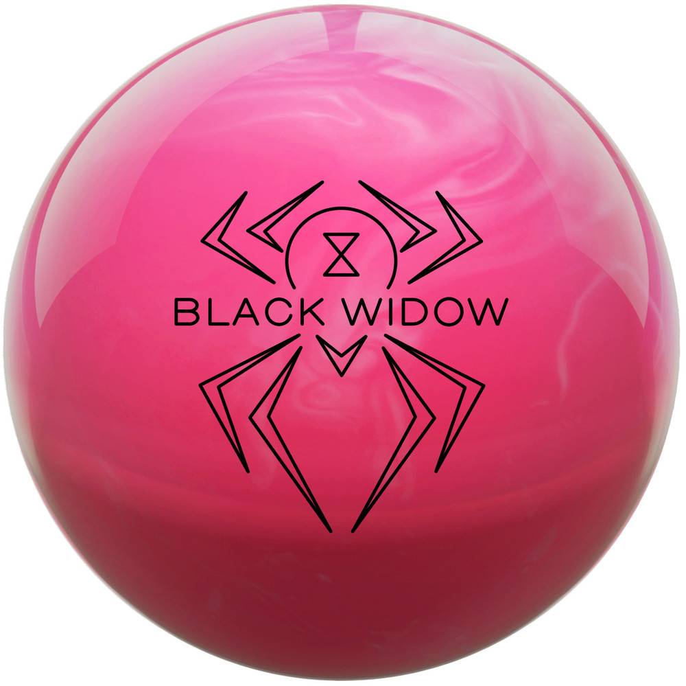 Hammer Black Widow Pink Bowling Ball Front View