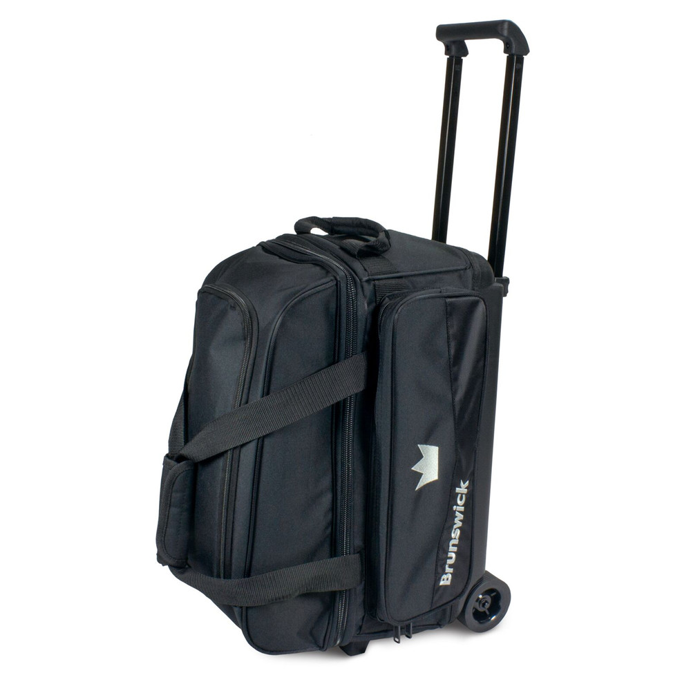 Brunswick Zone 2 Ball Double Roller Bowling Bag Black