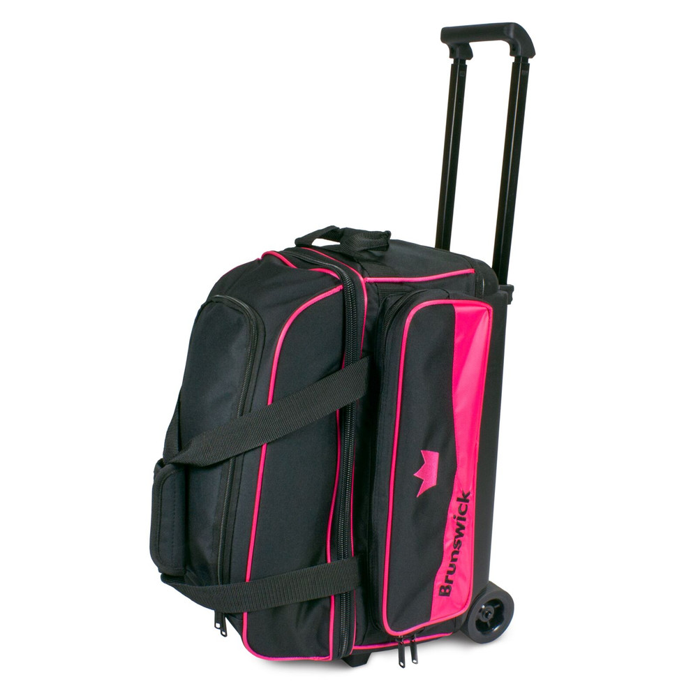 Brunswick Zone 2 Ball Double Roller Bowling Bag Pink