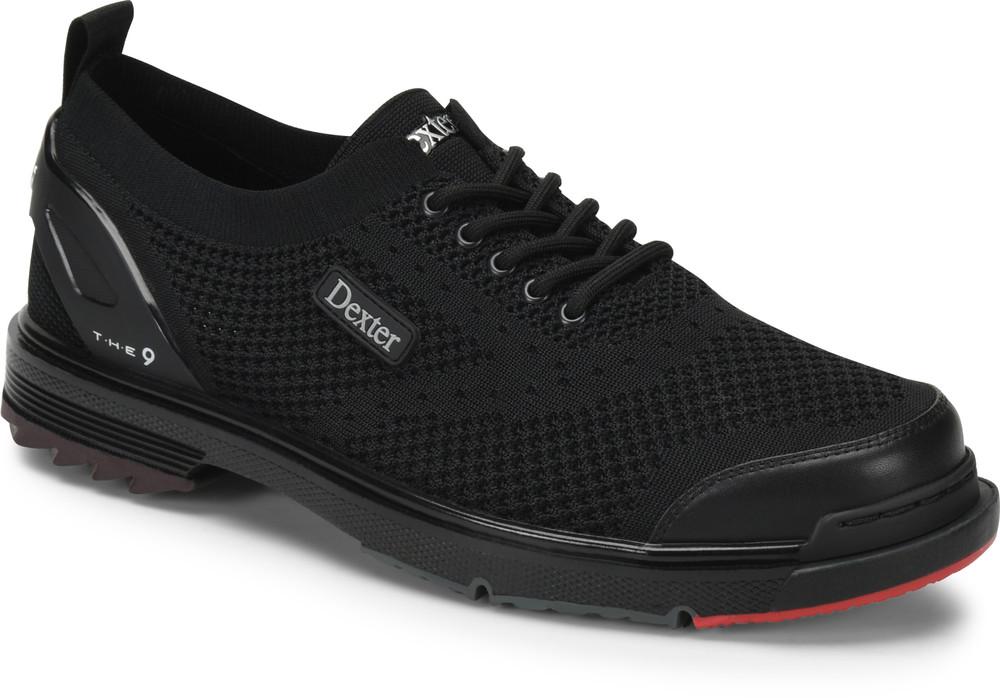 Dexter THE 9 ST Mens Bowling Shoes Black Strike Knit