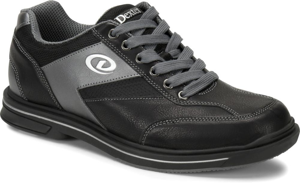 Dexter Match Play Mens Bowling Shoes Left Hand Black Alloy