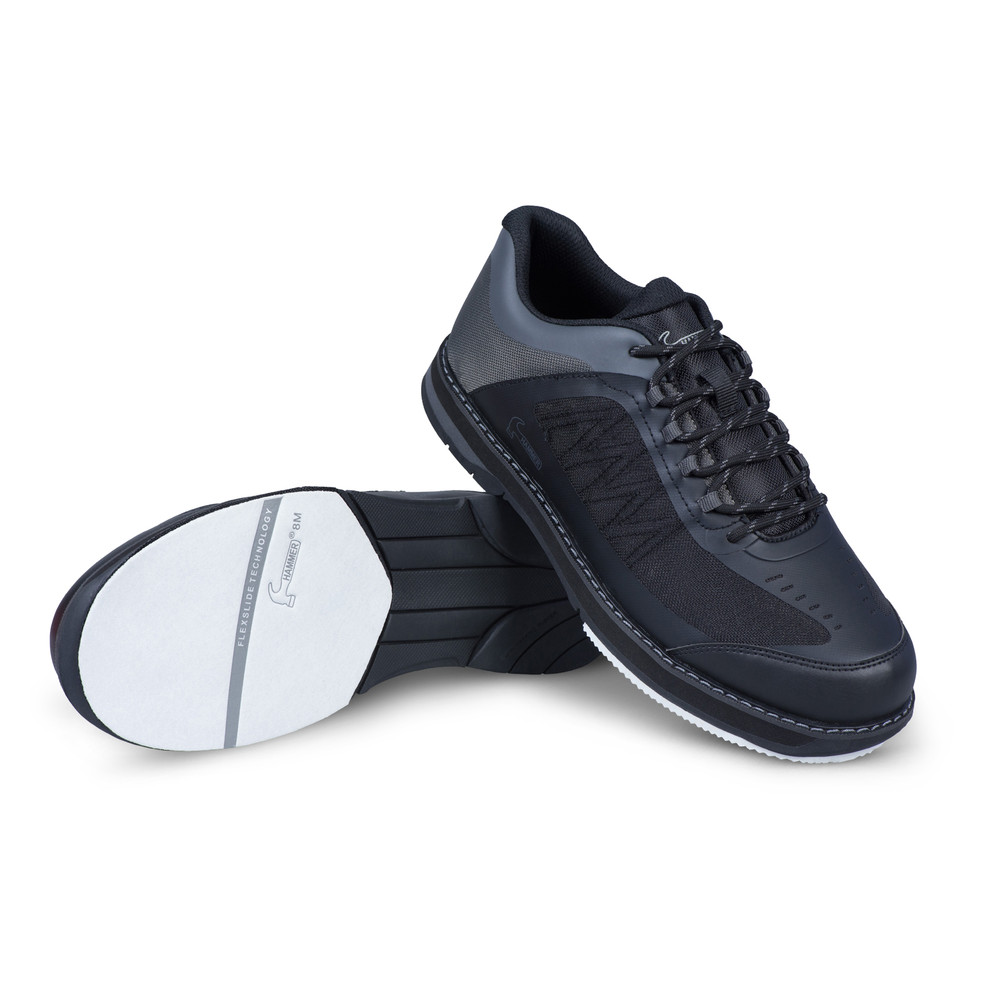 Hammer Rogue Mens Performance Bowling Shoes Black Carbon Wide Width