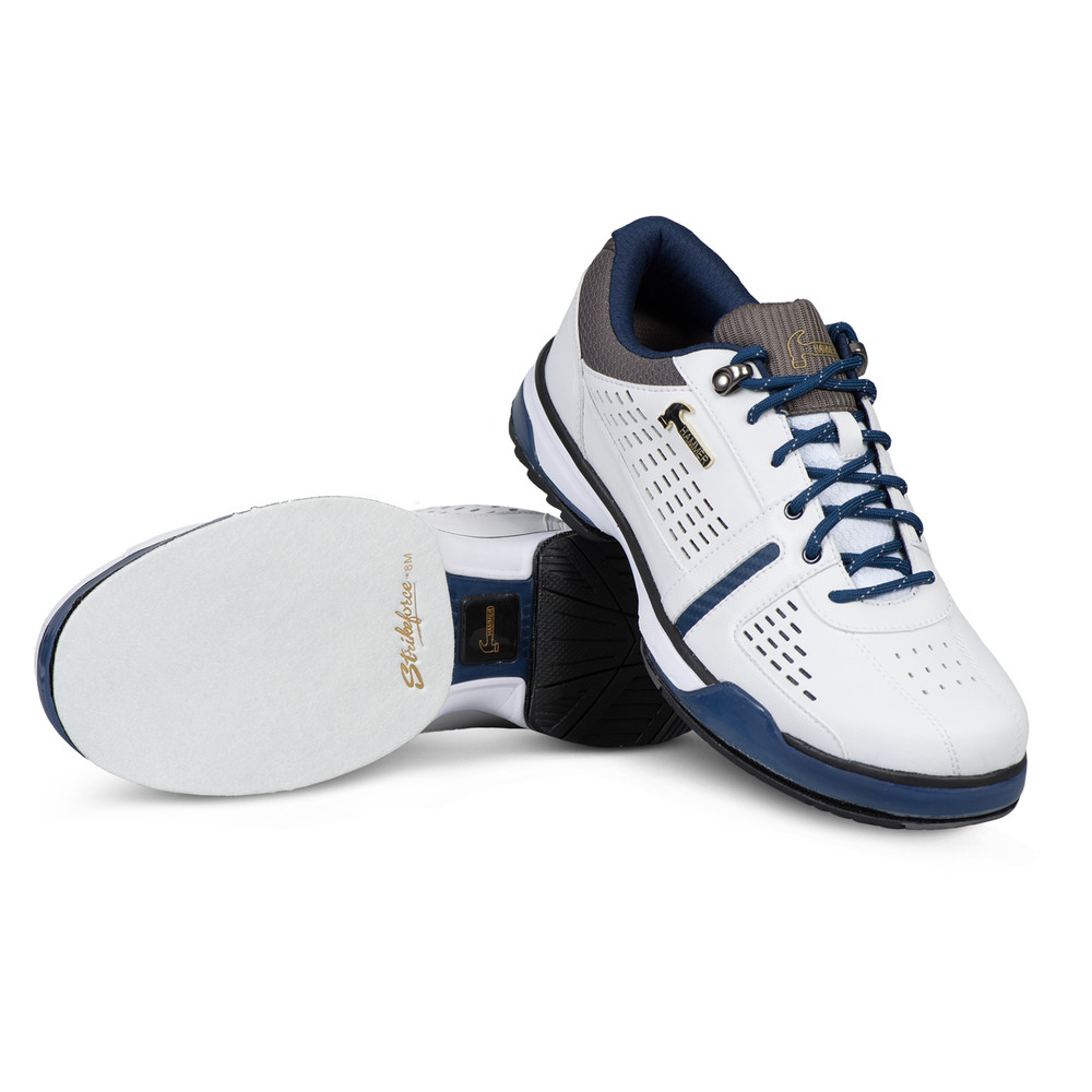 Hammer Boss Mens Performance Bowling Shoes White Navy Grey