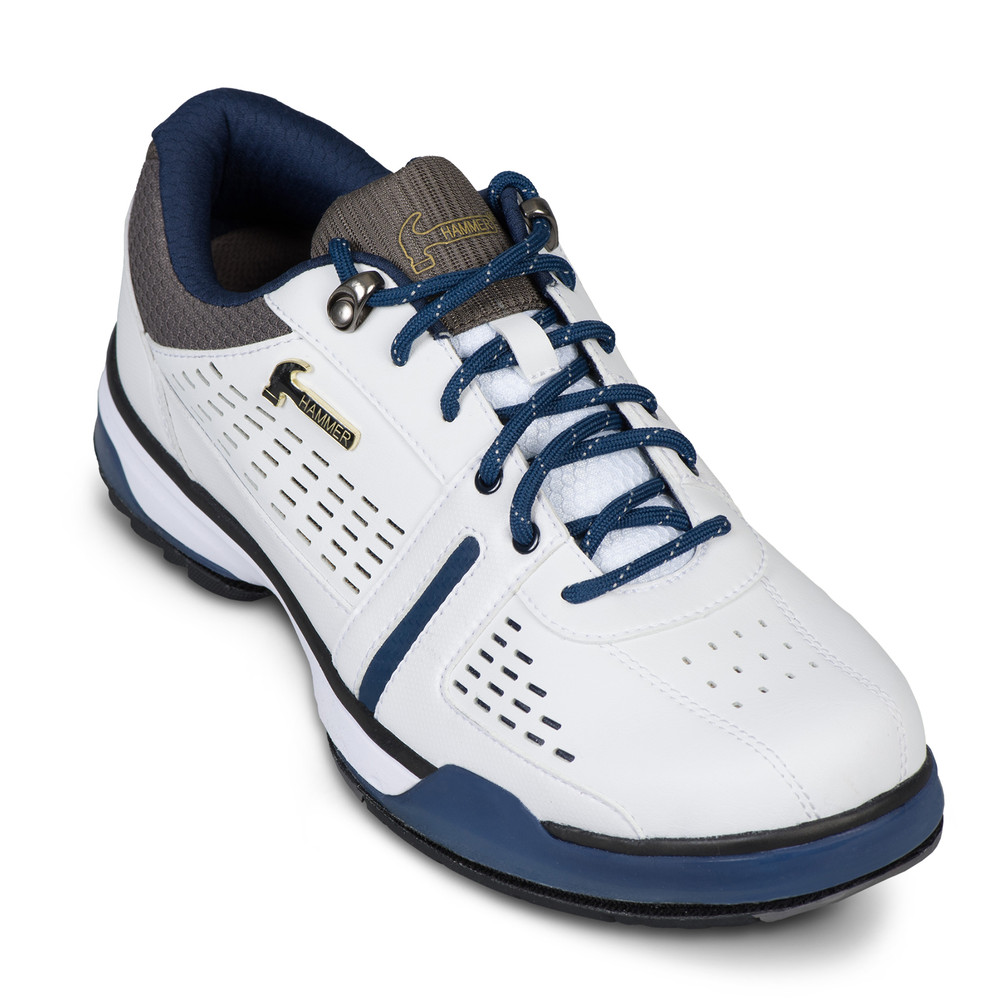 Hammer Boss Mens Performance Bowling Shoes White Navy Grey Wide Width