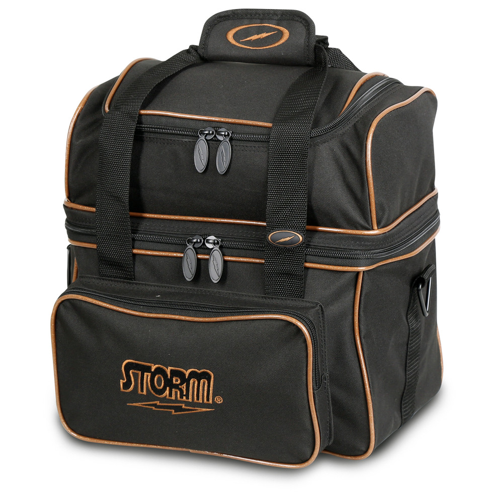 Storm Flip Tote 1 Ball  Bowling Bag Black Gold