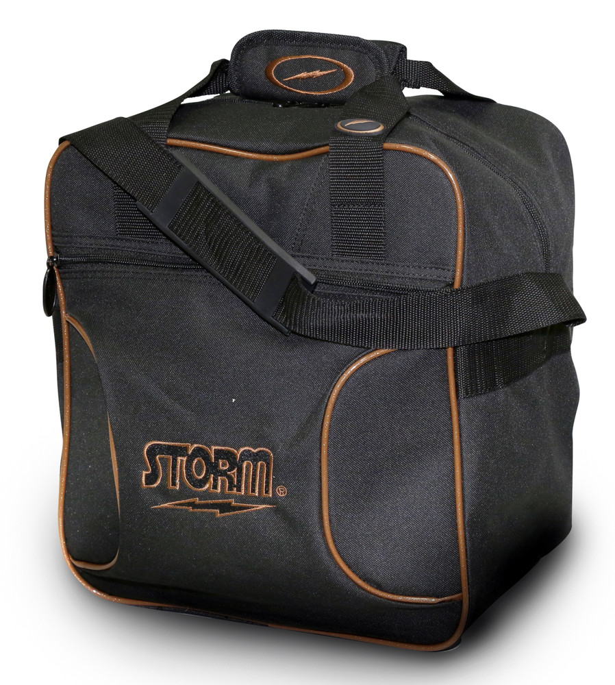Storm Solo 1 Ball Tote Bowling Bag Black Gold