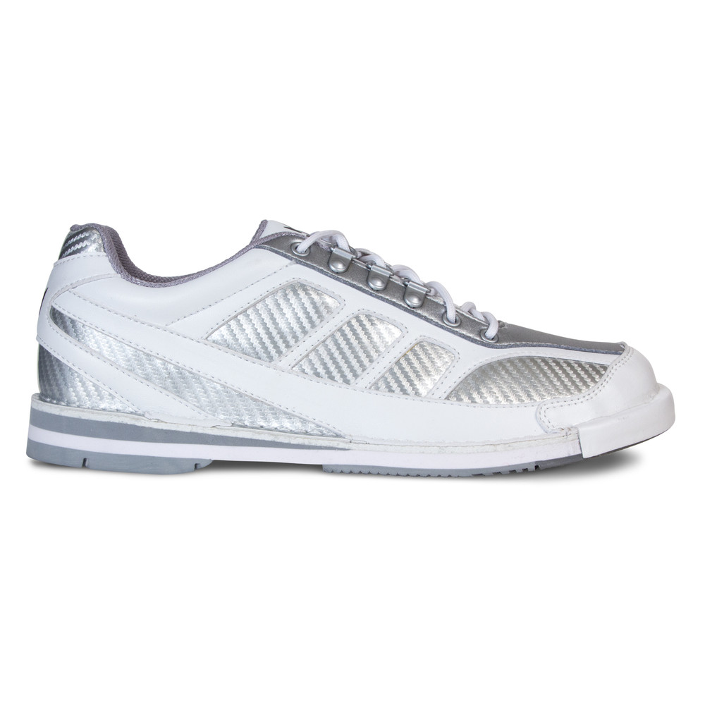 Brunswick Phantom Mens Bowling Shoes White Silver Right Hand