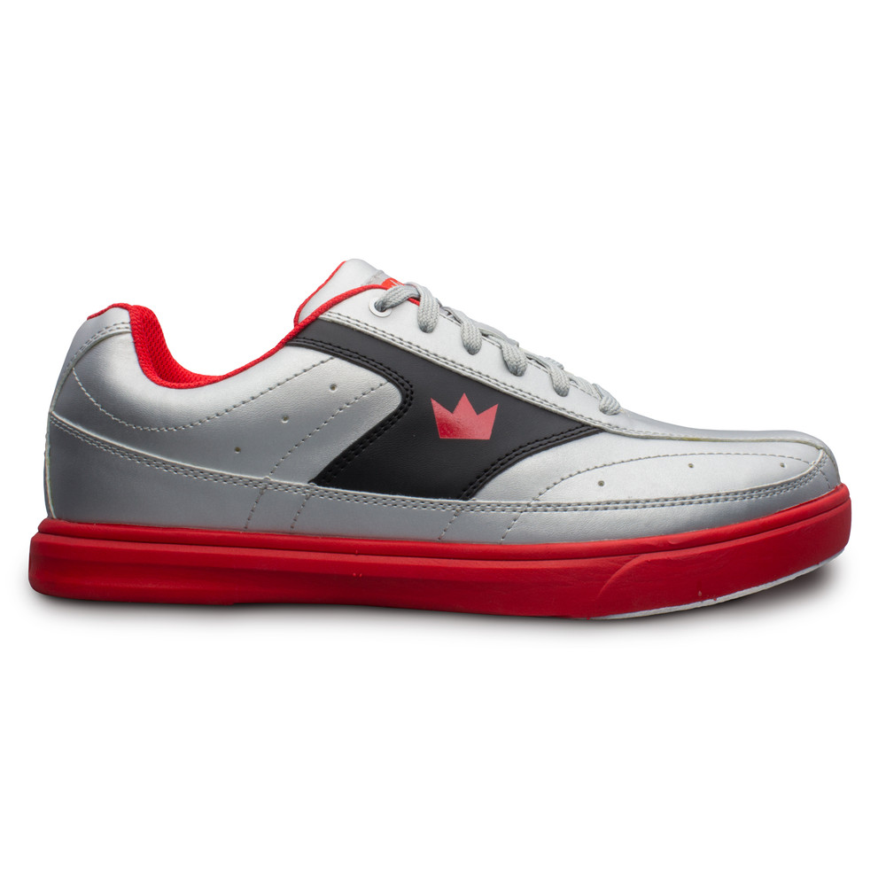 Brunswick Renegade Bowling Shoes Silver Red