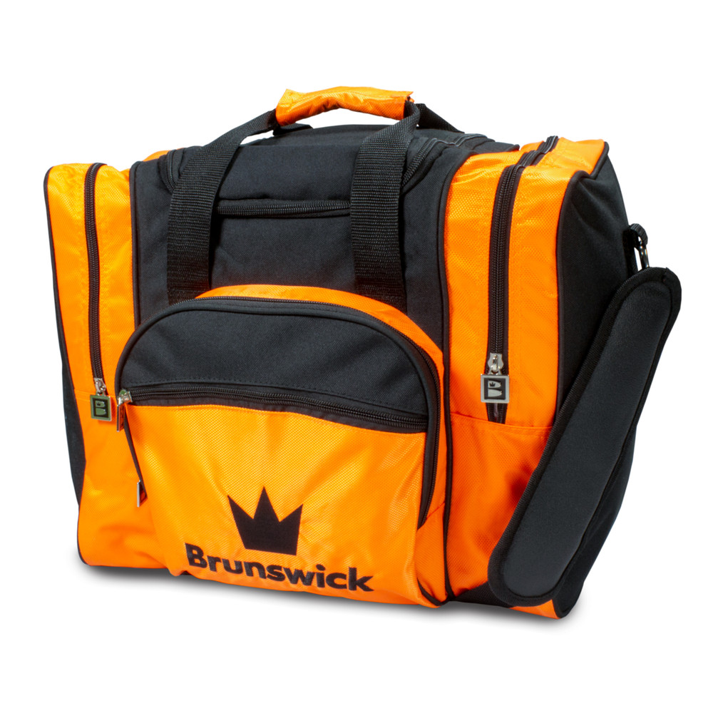 Brunswick Edge 1 Ball Single Tote Bowling Bag Orange