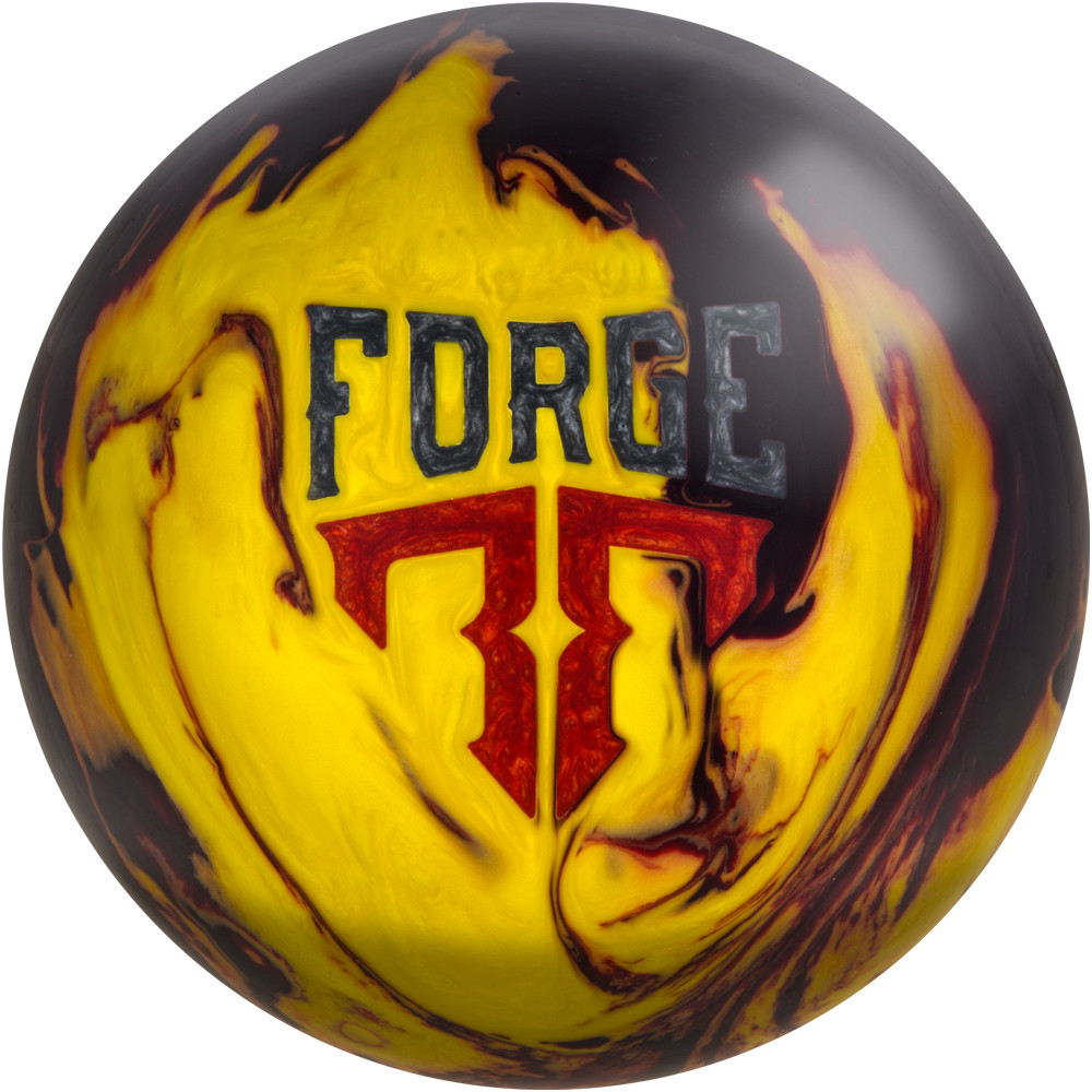 Motiv Forge Fire Bowling Ball Front View
