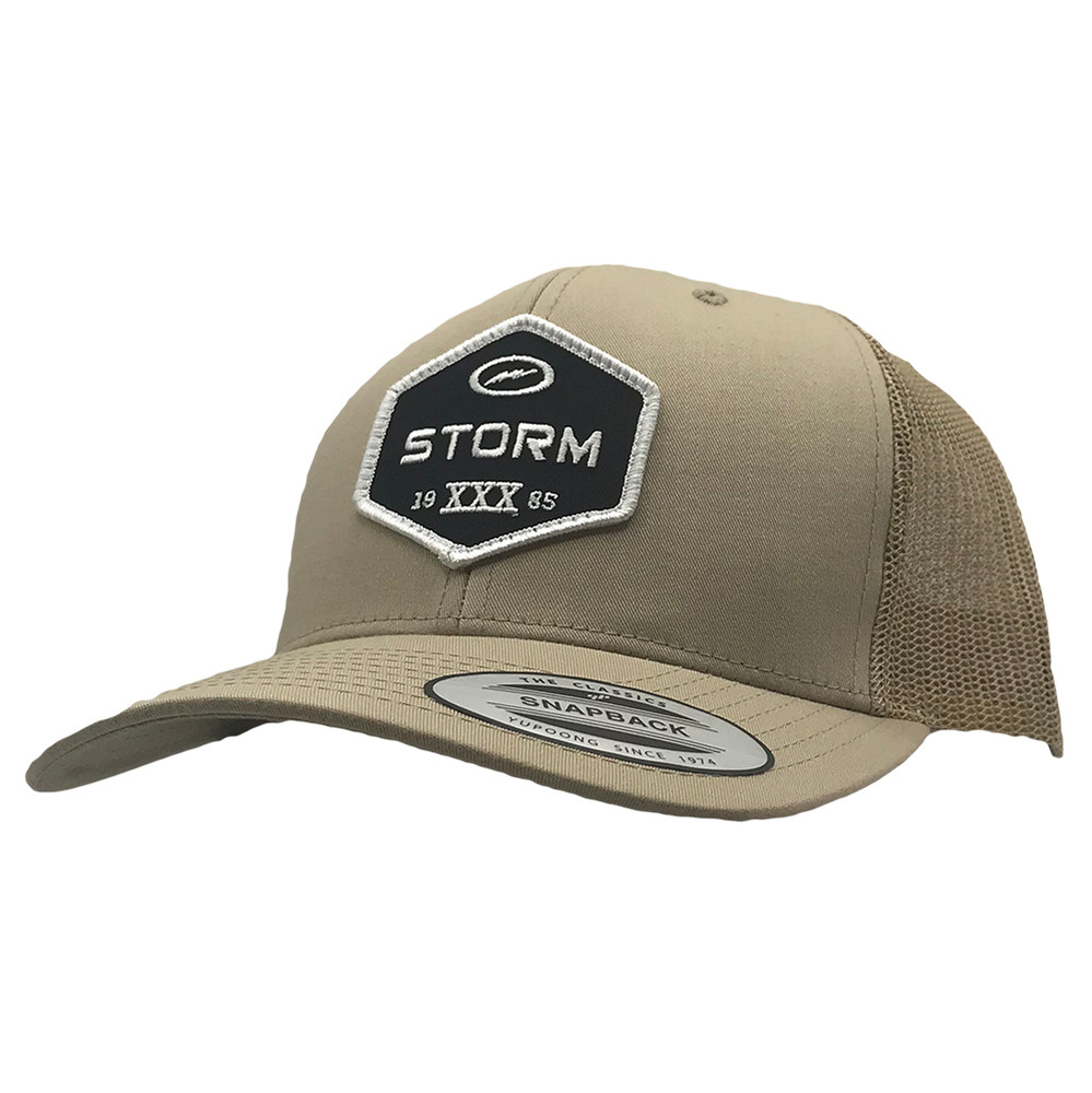 Storm Patch Snapback Hat Khaki