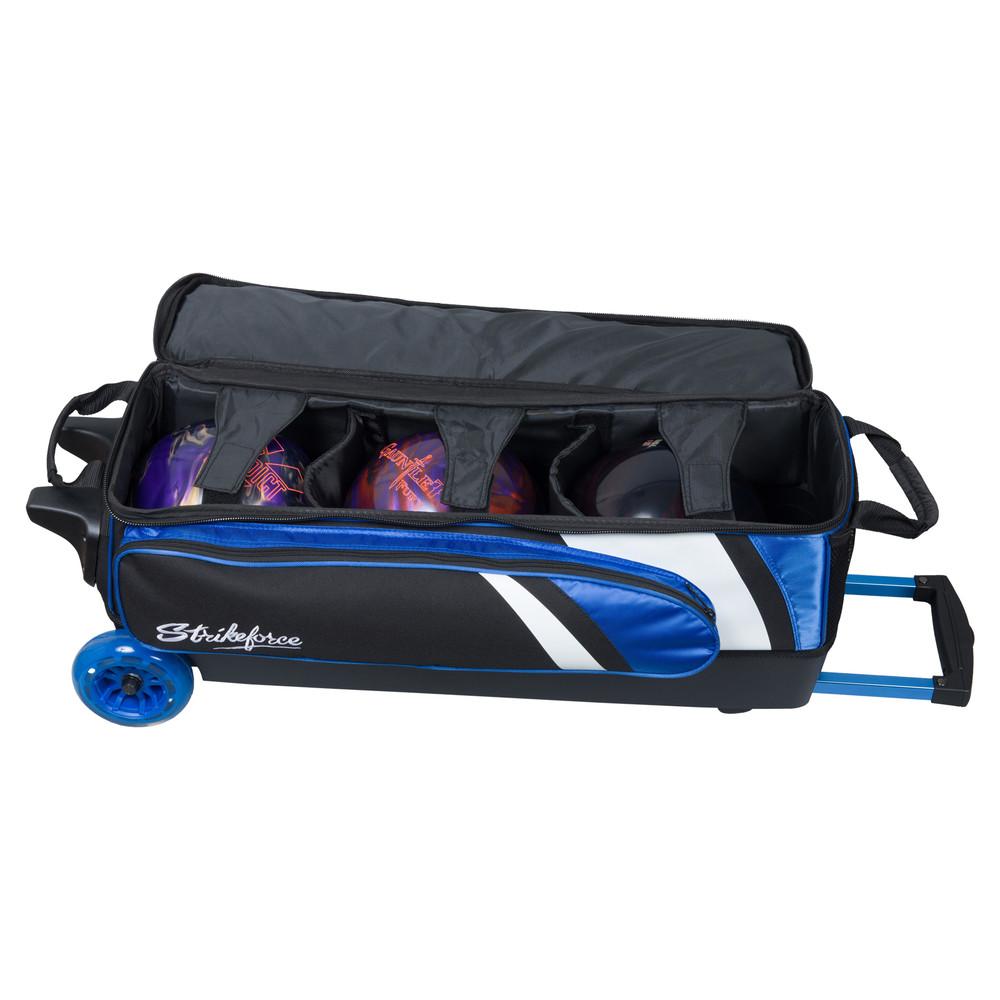 KR Cruiser Smooth 3 Ball Triple Roller Bowling Bag Royal
