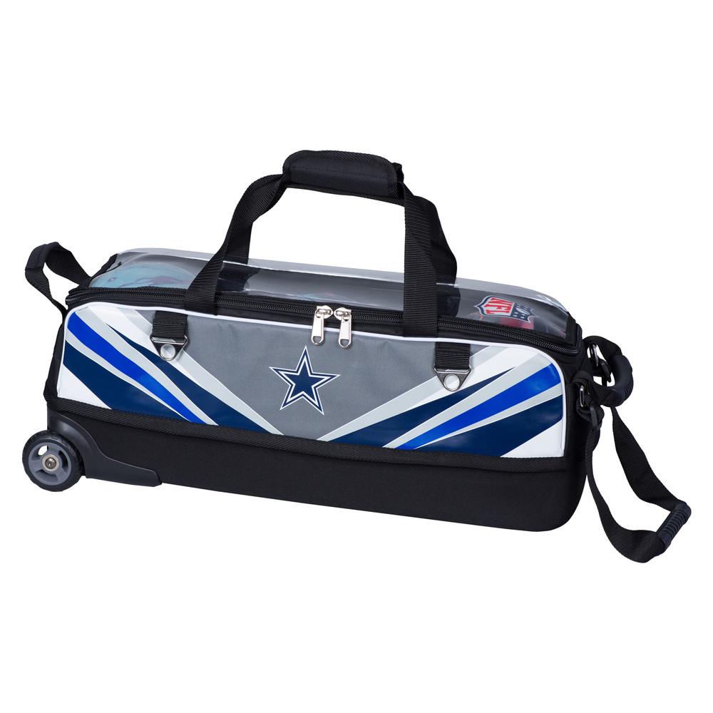 KR NFL 3 Ball Slim Triple Roller Tote Bowling Bag Dallas Cowboys