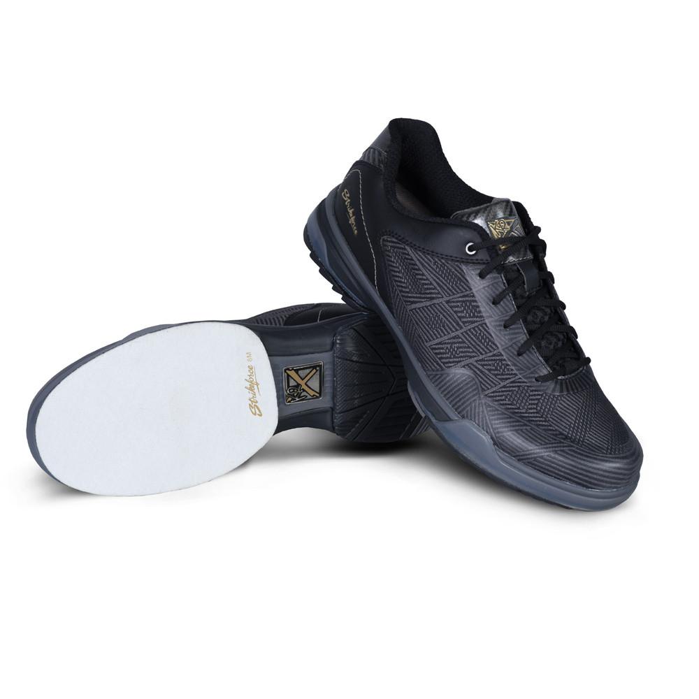 KR Strikeforce Rage Mens Bowling Shoes Gunmetal Black Right Hand Wide Width