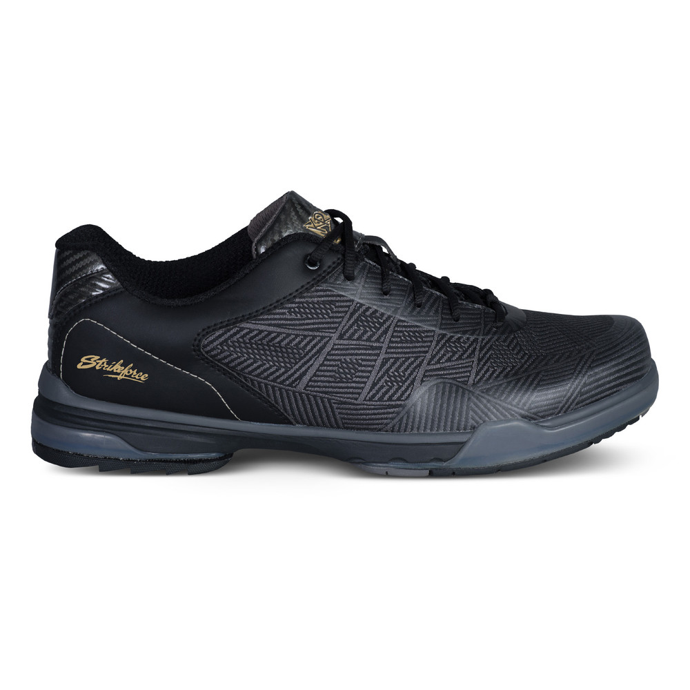 KR Strikeforce Rage Mens Bowling Shoes Gunmetal Black Left Hand