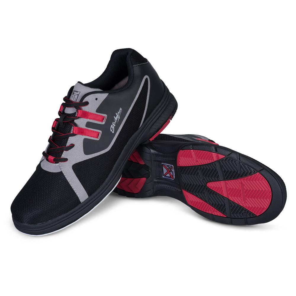 KR Strikeforce Ignite Mens Bowling Shoes Black Red Left Hand