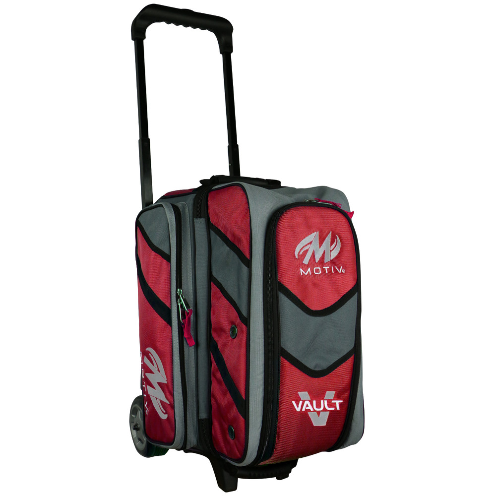 Motiv Vault 2 Ball Double Roller Bowling Bag Red