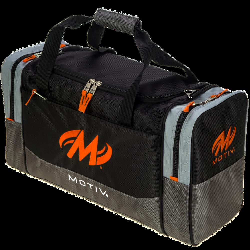 Motiv Shock 2 Ball Double Tote Bowling Bag Black Orange
