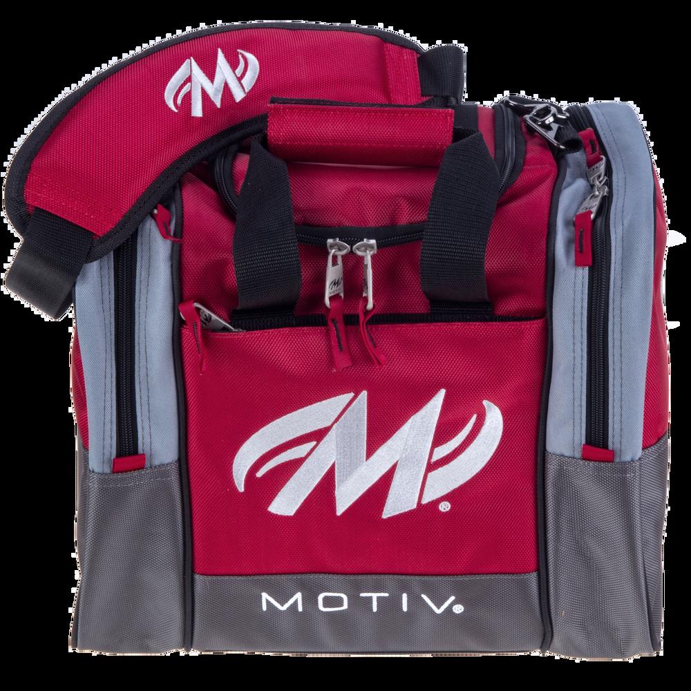 Motiv Shock 1 Ball Single Tote Bowling Bag Red