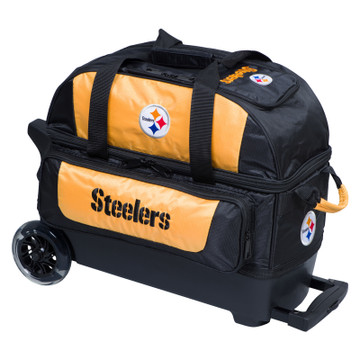 KR NFL 2 Ball Double Rolling Bowling Bag Pittsburgh Steelers