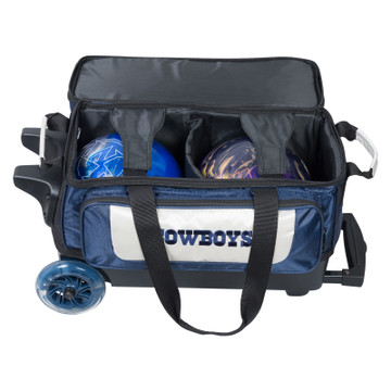 KR NFL 2 Ball Double Rolling Bowling Bag Dallas Cowboys