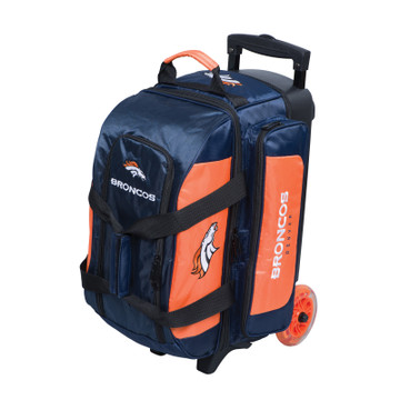 KR NFL 2 Ball Double Rolling Bowling Bag Denver Broncos