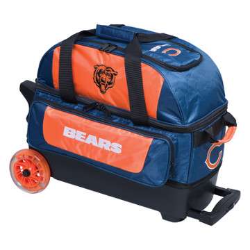 KR NFL 2 Ball Double Rolling Bowling Bag Chicago Bears