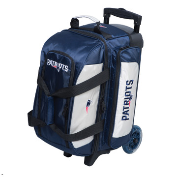 KR NFL 2 Ball Double Rolling Bowling Bag New England Patriots