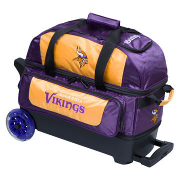 KR NFL 2 Ball Double Rolling Bowling Bag Minnesota Vikings