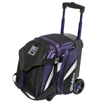 KR Cruiser 1 Ball Single Roller Bowling Bag Purple/Black