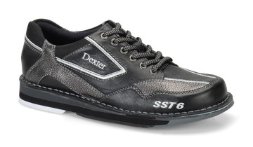 Dexter SST 6 LZ Mens Bowling Shoes Right Hand Black Alloy Wide Width side view