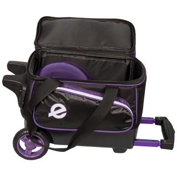 Ebonite Eclipse Single Roller Bowling Bag Purple