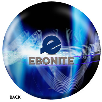 Ebonite Logo Ball Back View