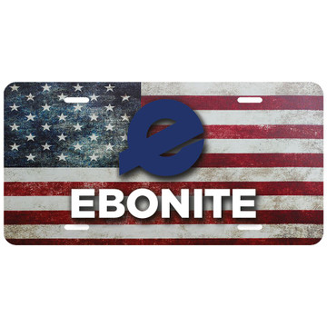 Ebonite Car License Plate