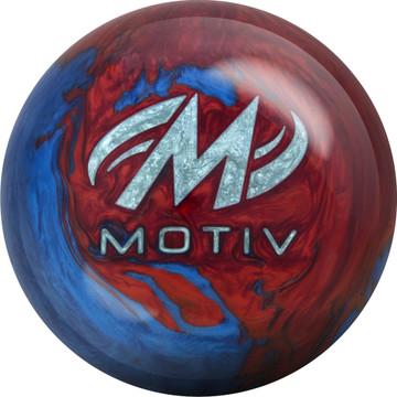 Motiv Freestyle Rush Bowling Ball Blue Red