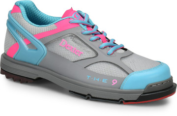 Dexter THE 9 HT Womens Bowling Shoes Grey Blue Pink