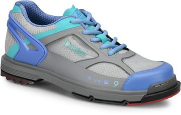 Dexter THE 9 HT Womens Bowling Shoes Grey Peri Aqua WIDE