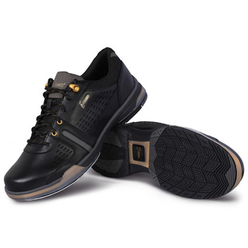 Hammer Boss Mens Performance Bowling Shoes Black Gold