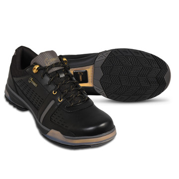 Hammer Boss Mens Performance Bowling Shoes Black Gold Wide
