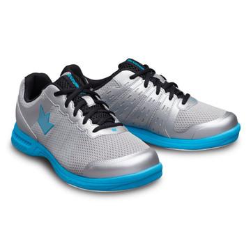 Brunswick Fuze Men's Bowling Shoes Silver Sky Blue