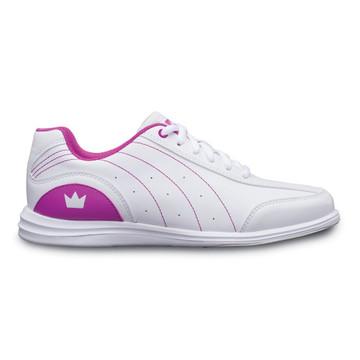 Brunswick Mystic Youth Bowling Shoes White Fuchsia