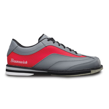 Brunswick Rampage Men's Bowling Shoes Grey Red Right Hand