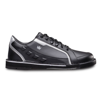 Brunswick Punisher Mens Bowling Shoes Black Silver Right Hand